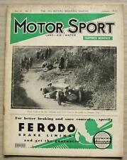 MOTOR SPORT Magazine Jan 1934 AUSTIN 65 Lagonda TRIUMPH GLORIA Alfa Romeo Type B
