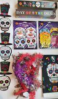 Dia De Los Muertos Day Of The Dead Sugar Skull Halloween Party Decor Home New!