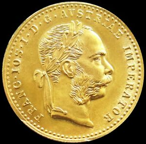 1915 GOLD AUSTRIA 3.49 GRAMS 1 DUCAT COIN MINT STATE CONDITION