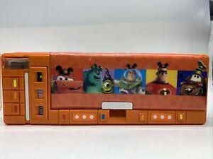 Rare Vintage Touch 7 Disney Pixar Pencil Case Storage Organizer - All Works