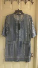 BCBG MAXAZRIA, women's size medium dress, Jean Color, Silver Stripes, NWT $ 228