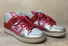 DC Shoes Womans High Top Skateboard Fashion Red Gold Leather Upper 8.5