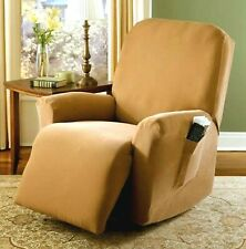 Spandex Pique Stretch Fit Recliner Chair Lazy Boy Cover Slipcover - Dark Golden