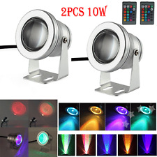 2X 10W RGB LED Lights Waterproof Outdoor Flood 16 Color Changing Spot Lamp DC12V