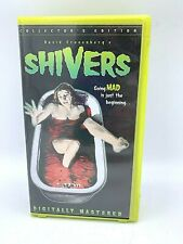 VHS Shivers 1975 Horror Movie 1998 Anchor Bay Clamshell Paul Hampton