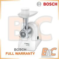 Electric Meat Grinder Mincer Chopping BOSCH MFW2500W White 350W Kitchen Burgers