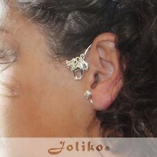JoliKo Ohrklemme Ear cuff Katze Wolle Mietzi Kiti Cat Tattoo Silber pl RECHTS