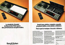 PUBLICITE ADVERTISING 044   1976  BANG & OLUFSEN   ampli platine  magnéto( 2 pag