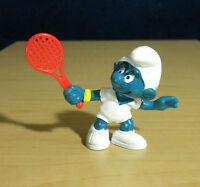 Smurfs 20049 Tennis Smurf Vintage Figure 1978 Sports PVC Toy Lot Figurine Peyo