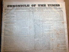 Original 1831 Baltimore Chronicle MARLAND pre-Civil War newspaper -183 years old