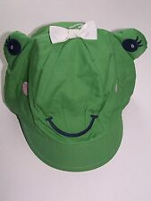 Nwt Gymboree Green Frog Flower Showers Girl Sun Beach Hat 0-12 Free Us Shipping