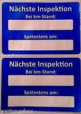 2 Serviceaufkleber - Nächste Inspektion - Wartungsaufkleber