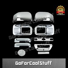 15-16 FORD F150 Fog Lamp+Mirror/2 Handle/2 Door Bowls/Gas/Tailgate Chrome Cover