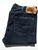 LEVI'S 501 ORIGINAL JEANS MEN'S STRAIGHT LEG W40 L32 DARK BLUE STRAUSS LEVR225