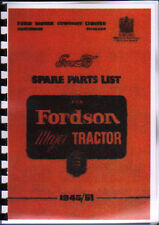 "Fordson Major ""E27N"" Tractor Illustrated Parts List Book"