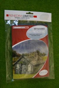 Renedra Wattle and Daub Outbuilding Plastic Scenery Terrain 28mm - 1/56th Scale