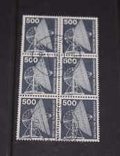 GERMANY 1975 INDUSTRY & TECHNOLOGY ISSUE 500PF IN BLOCK OF 6 FINE USED