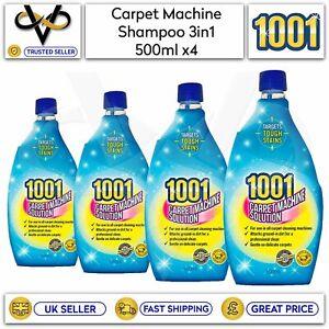 4 x 1001 Carpet Shampoo For 3 in 1 Machines 500ml each