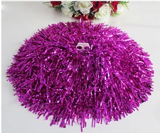 2 Pcs Various colors Cheerleading Poms Match Pom Plastic Ring Dance Supplies new