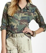 NEW Da-nang Army Camouflage short sleeve shirt top Sz S $168 Over $100 OFF!