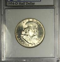 1954-D FRANKLIN HALF DOLLAR ~ GEM BU UNCIRCULATED FULL BELL LINES!