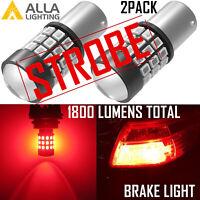Alla Lighting LED 1157 Legal Strobe Flashing Blinking Brake Stop Light Bulb Red