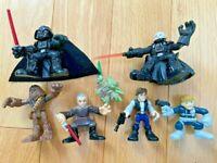 Set of 7 Star Wars Galactic Heroes Figures by Hasbro: Han, Chewy, Yoda, Darth
