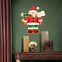 Santa Claus Snowman Wall Decal Winter Christmas Wall Or Window Decorations, h87