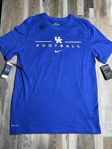 New Kentucky Wildcats Mens Nike Football Dri-Fit T-Shirt Men's Sz LARGE