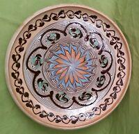Piatto artigianale da collezione - Ceramica di Horezu -cm.20,5