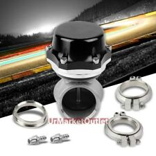 "Universal Black 50mm 14PSI V-Band Turbo 5.25""Height External Wastegate+Spring"