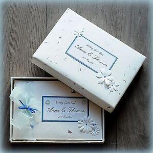 Luxury Personalised Wedding/ Birthday/ Christening Guest Book/ Handmade Boxed