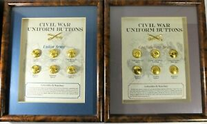 Stunning Confederate & Union Army Civil War Display by Waterbury Button Company