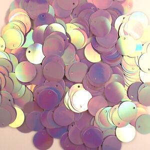 Sequins Lavender Iris 15mm Paillettes / Flat ~200 pieces Loose