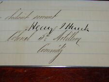 Very Early Signature Civil War Colonel 5th Artillery Henry Hunt