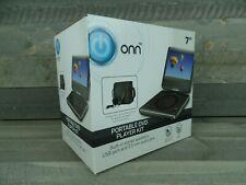 "ONN 180° Swivel Portable DVD Player - 7"" Screen - Buit-In Stereo Speakers - NEW"