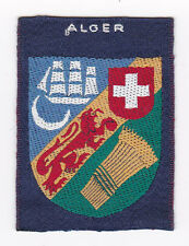 SCOUT OF FRANCE -  FORMER FRENCH COLONIES ALGER SCOUTS Patch ~ EXT+++ SCARE