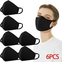 Práctica Mascarilla Proteccion Facial Mascara Washable Unisex España Negro