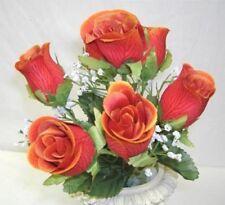 84 Orange Flame Roses Bud Wedding Bouquet Rose Flowers