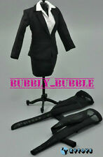 "1/6 Female Business Career Skirt Suits Set For 12"" Hot Toys Phicen SHIP FROM USA"