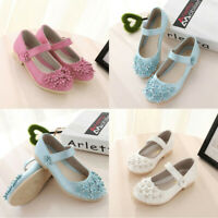Toddler Kids Children Baby Girls Flower Sandals Princess Casual Single Shoes