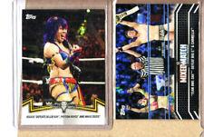 Asuka-WWE-2 Card Lot-2018 Topps Women's Division-NXT TO-MMC-Miz-Awe-Ska-Mint