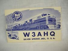 Postcard SILVER SPRING MD B & O R. R. Ham Radio1950's  unused