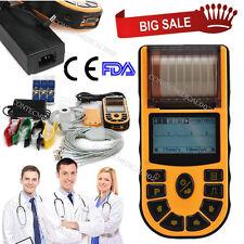 12 Lead Portable LCD Digital 1-channel Electrocardiograph ECG/EKG Machine,FDA