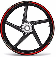 Kit Stickers Stripe for Wheel Rim compatible with Motorcycle Aprilia Rsv4 Decal