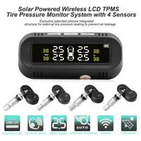 C68 USB + Solar Auto TPMS LCD Reifendruckkontrollsystem mit 4 Intern Sensoren