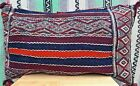 Vintage Moroccan Kilim Pillow P17 Handmade Berber Tribal Pattern 31