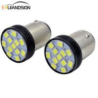 2pcs BA15D 2835 12 SMD LED Car Indicator Turn Signal Side Tail Light Bulb White