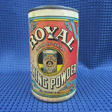 """Vintage Tin Can Royal Baking Powder cream of Tartar Powder 4"""" tall"""