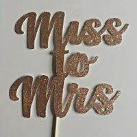 Custom Cake Topper Glitter Any Name Word Miss to Mrs
